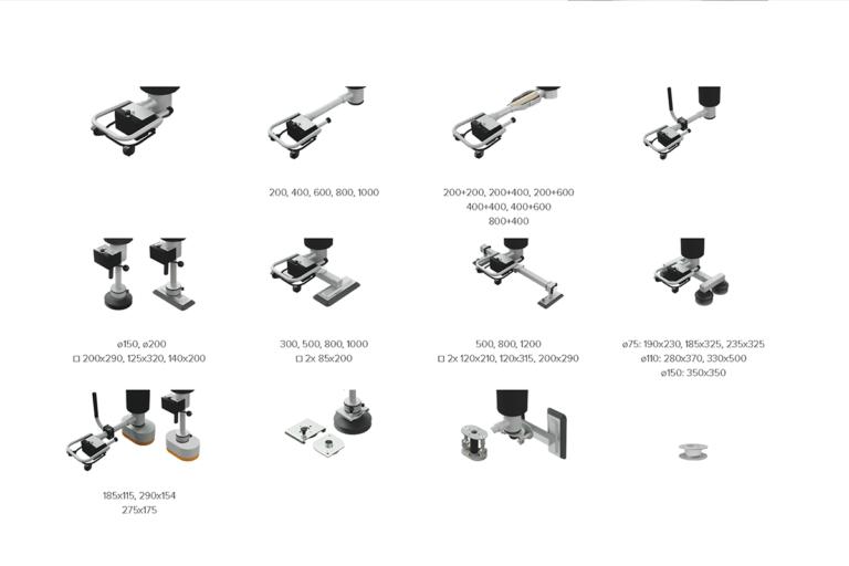 Vakuumok - sugfötter - sugfot - vakuumfot för vakuumlyftare Easyhand M Movomech