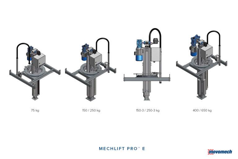 Lyftmanipulator - lyftpelare - momentupptagande pelarlyft - Mechlift Pro Movomech