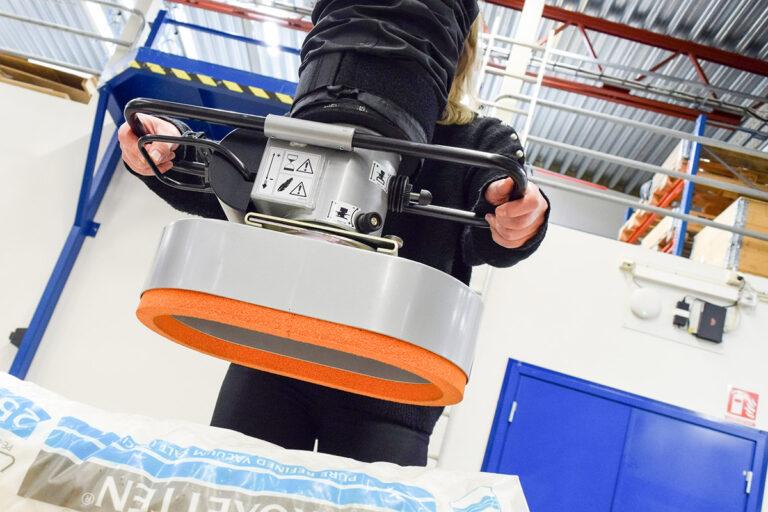 Vakuumlyftare för säcklyft - säckhantering Movomech Vacuhand Pro