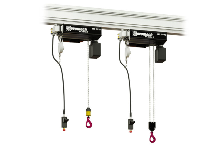 Frequency controlled chain hoist for professional lifting - Mechchain Pro II from Movomech