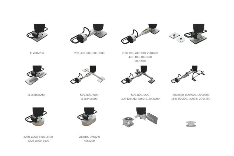 Vakuumok - sugfötter - sugfot - vakuumfot för vakuumlyftare Vacuhand Pro Movomech