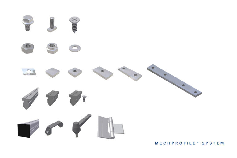 Aluminium profiles Mechprofile and accessories, from Movomech