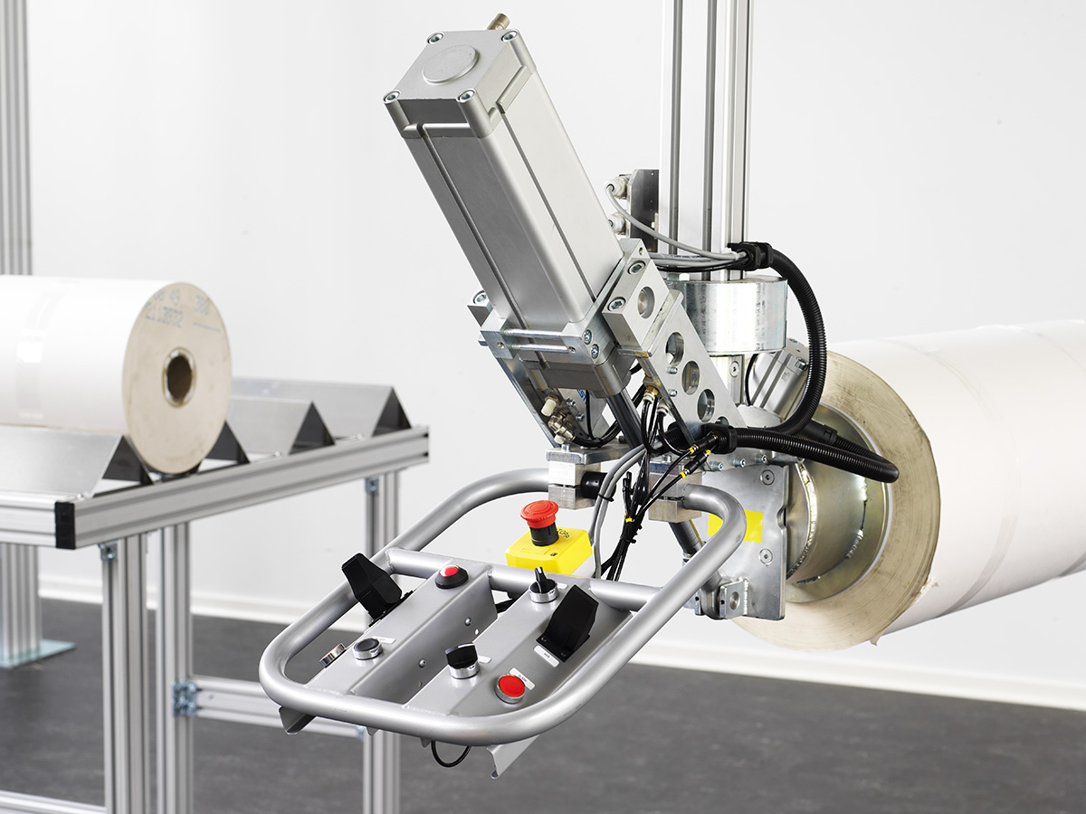 Pneumatiska lyftverktyg för rullar, skivor, med mera