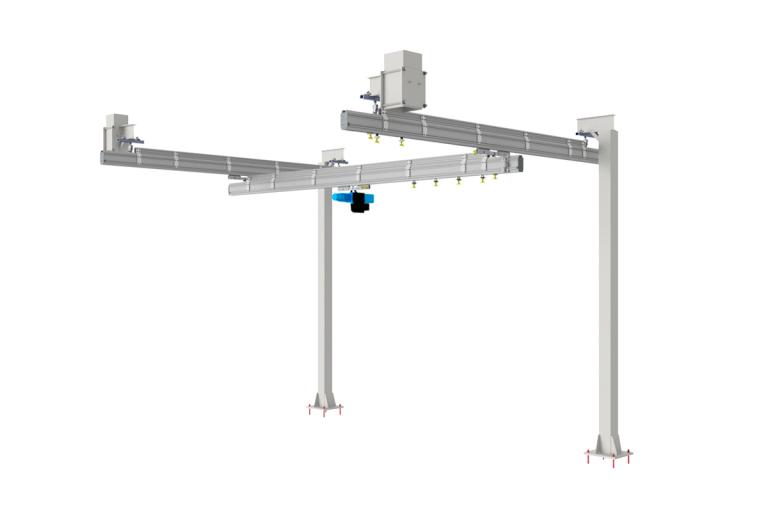 Golvmonterad stålstruktur med traverssystem