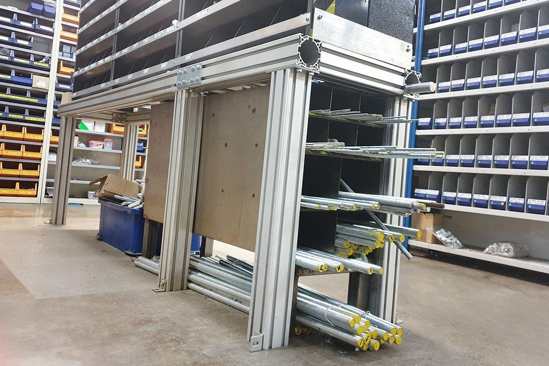 Profilsystem i aluminium Mechprofile