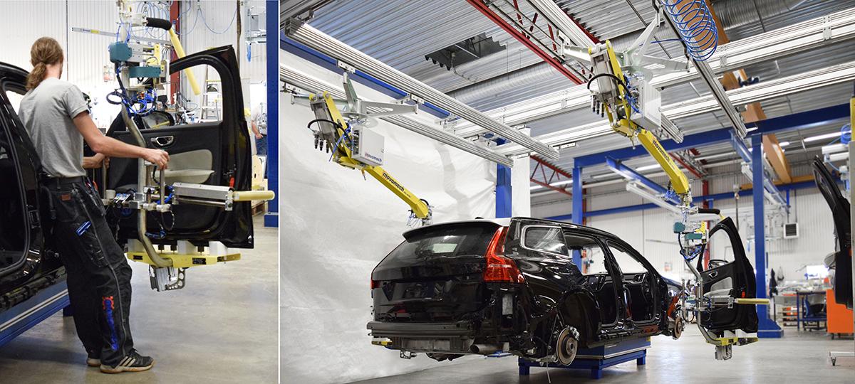 Lyfthjälpmedel och lyftteknik till dörrmontering - automotive - Movomech