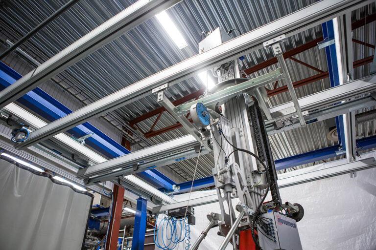 Kransystem - lättraverssystem - travers - skensystem i aluminium Mechrail™ från Movomech