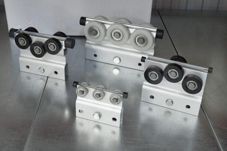 Lastbärande löpvagnar till Mechrail lättraverssystem i aluminium
