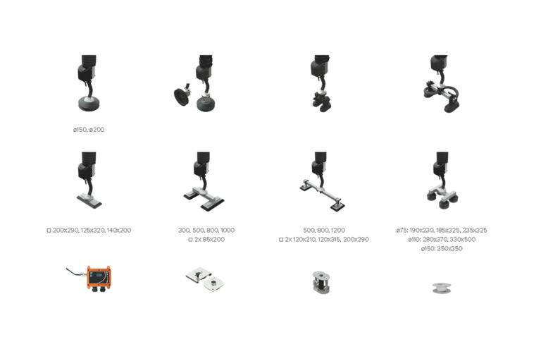 Vakuum-ok - lyftok - sugfötter - sugkoppar - Movomech vakuumlyftare Easyhand Pro