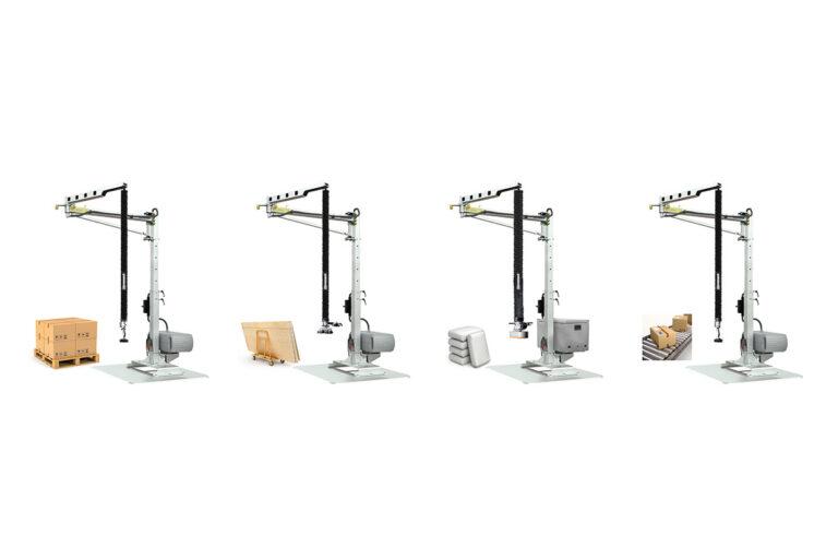 Vakuuumlyft i mobil svängkran - Easycrane vikarmskran Movomech