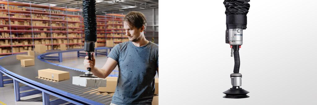 Snabba kartonglyft med vakuumlyft Easyhand Pro Rapid - Movomech
